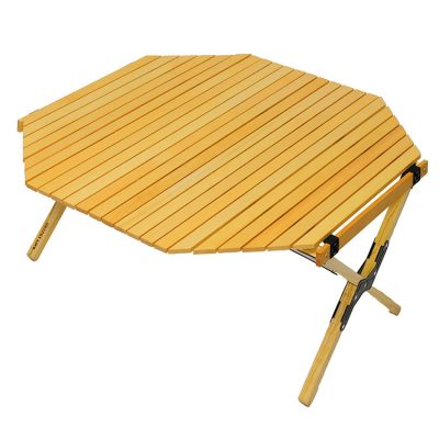 OUTPUT LIFE WOOD ROLL TOP TABLE OCTAGON